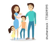 isolated happy family with... | Shutterstock .eps vector #772839595