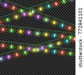 colorful christmas lights... | Shutterstock .eps vector #772841101