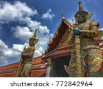 the gatekeepers at grand palace ... | Shutterstock . vector #772842964