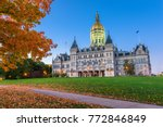 connecticut state capitol in... | Shutterstock . vector #772846849