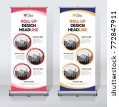 roll up banner design print... | Shutterstock .eps vector #772847911