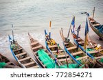 traditional african fishing... | Shutterstock . vector #772854271