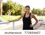 portrait of a smiling fitness... | Shutterstock . vector #772854607