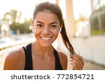 close up portrait of a smiling...   Shutterstock . vector #772854721