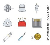 tailoring color icons set.... | Shutterstock .eps vector #772857364