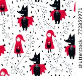 fairytale cute seamless pattern.... | Shutterstock .eps vector #772859971