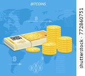 crypto currency bitcoin concept.... | Shutterstock .eps vector #772860751