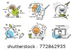 set of outline icons of art and ... | Shutterstock .eps vector #772862935