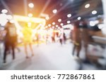 abstract blurred event with... | Shutterstock . vector #772867861