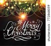 merry christmas calligraphic... | Shutterstock .eps vector #772868059