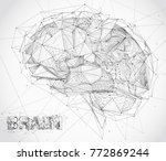 three dimensional vector cyber... | Shutterstock .eps vector #772869244