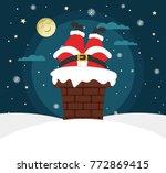 christmas night. full moon ... | Shutterstock .eps vector #772869415