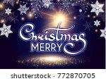merry christmas calligraphic... | Shutterstock .eps vector #772870705