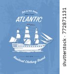 tee print marine ship or sea... | Shutterstock .eps vector #772871131