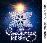 merry christmas calligraphic... | Shutterstock .eps vector #772871485