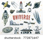 astronaut spaceman. planets in... | Shutterstock .eps vector #772871647