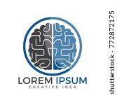 creative brain logo design.... | Shutterstock .eps vector #772872175