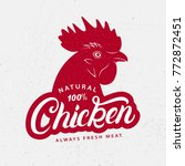 chicken logo  label  print ... | Shutterstock .eps vector #772872451