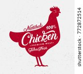 chicken silhouette and hand... | Shutterstock .eps vector #772872514