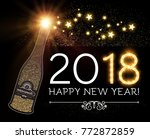 happy new 2018 year and... | Shutterstock .eps vector #772872859