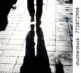 defocused silhouette and shadow ... | Shutterstock . vector #772872904
