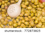 close up of green olives in a... | Shutterstock . vector #772873825