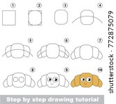 kid game to develop drawing... | Shutterstock .eps vector #772875079
