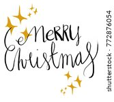 merry christmas hand drawn... | Shutterstock .eps vector #772876054