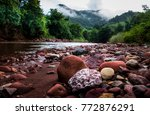 river and natural. | Shutterstock . vector #772876291
