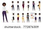 vector cartoon african american ... | Shutterstock .eps vector #772876309