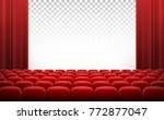 white transparent cinema movie... | Shutterstock .eps vector #772877047