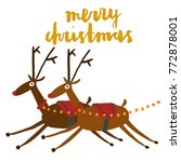 christmas theme concept with... | Shutterstock .eps vector #772878001