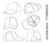 baseball cap set | Shutterstock .eps vector #772880335