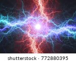 fire and ice electrical... | Shutterstock . vector #772880395