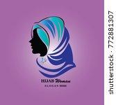 hijab logo template. hijab... | Shutterstock .eps vector #772881307