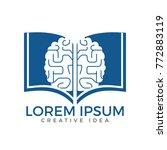 book brain logo design.... | Shutterstock .eps vector #772883119