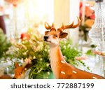 Reindeer Statues With Christma...