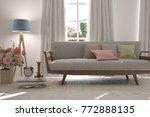 idea of white minimalist room... | Shutterstock . vector #772888135