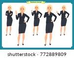 set of businesswoman character... | Shutterstock .eps vector #772889809