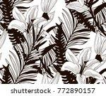 vector black decorative... | Shutterstock .eps vector #772890157