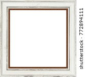 picture frame isolated on white ... | Shutterstock . vector #772894111