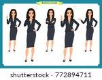 set of businesswoman character... | Shutterstock .eps vector #772894711