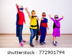 superheroes kids friends | Shutterstock . vector #772901794