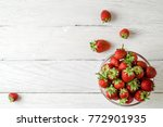 top view photo of a glass plate ... | Shutterstock . vector #772901935