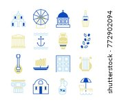 greece symbols in beautiful... | Shutterstock .eps vector #772902094