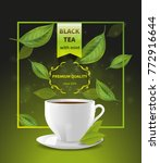 a cup of tea on the background... | Shutterstock .eps vector #772916644