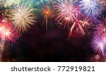 abstract colored firework... | Shutterstock . vector #772919821