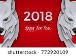 2018 happy new year design ...   Shutterstock .eps vector #772920109
