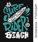 surf rider print. t shirt... | Shutterstock .eps vector #772921669