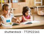 preschoolers are studying | Shutterstock . vector #772922161